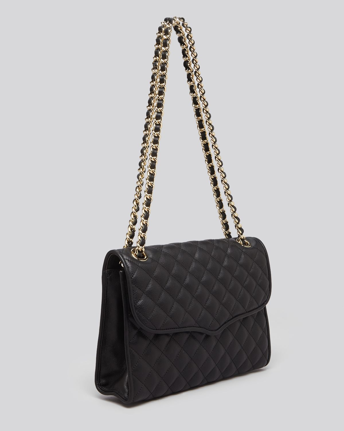Rebecca Minkoff Shoulder Bag Quilted Affair With Gold