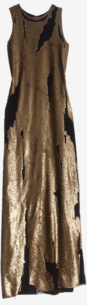 Robert Rodriguez Distressed Sequin Gown - Lyst
