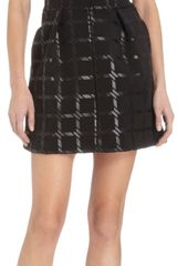 T By Alexander Wang Short Sleeve Grid Dress - Lyst