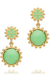 Tory Burch Winslow Logo Drop Earring - Lyst