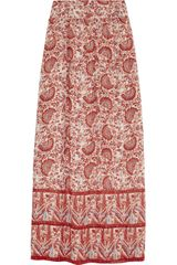 Tory Burch Bruna Printed Silk Georgette Maxi Skirt - Lyst