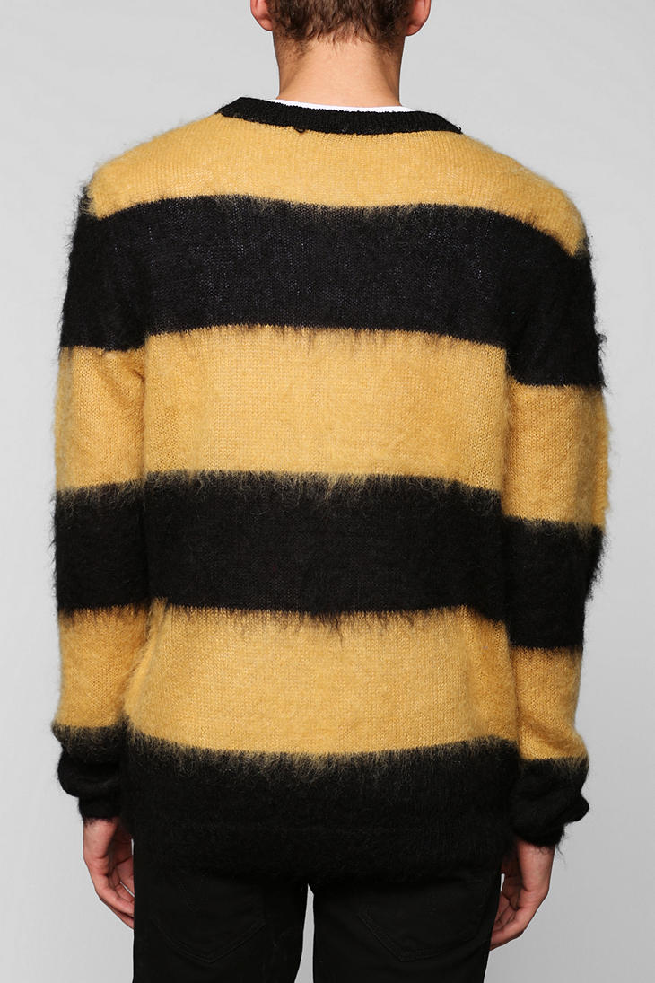 Urban outfitters Your Neighbors Stripe Sweater in Black for Men | Lyst