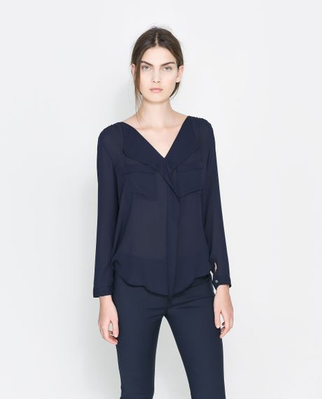 Zara V Neck Blouse 61