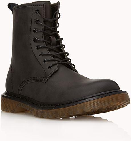 21men retro combat boots in black for lyst