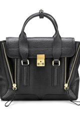 Black Leather Pashli Shoulder Bag