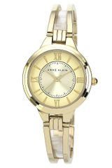 Anne Klein Ladies Gold Tone Bangle Bracelet Watch - Lyst