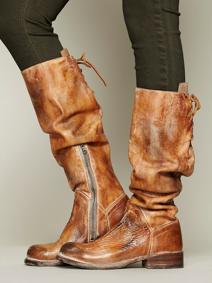 Perfect Womens-BED-STU-Glaye-distressed-leather-riding-boot