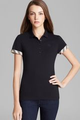 Burberry Brit Check Cuff Polo Shirt - Lyst