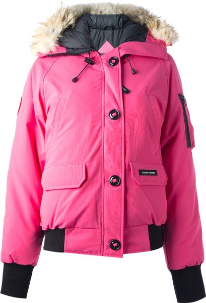 Canada Goose Chillwack Bomber In Pink Pink Amp Purple Lyst