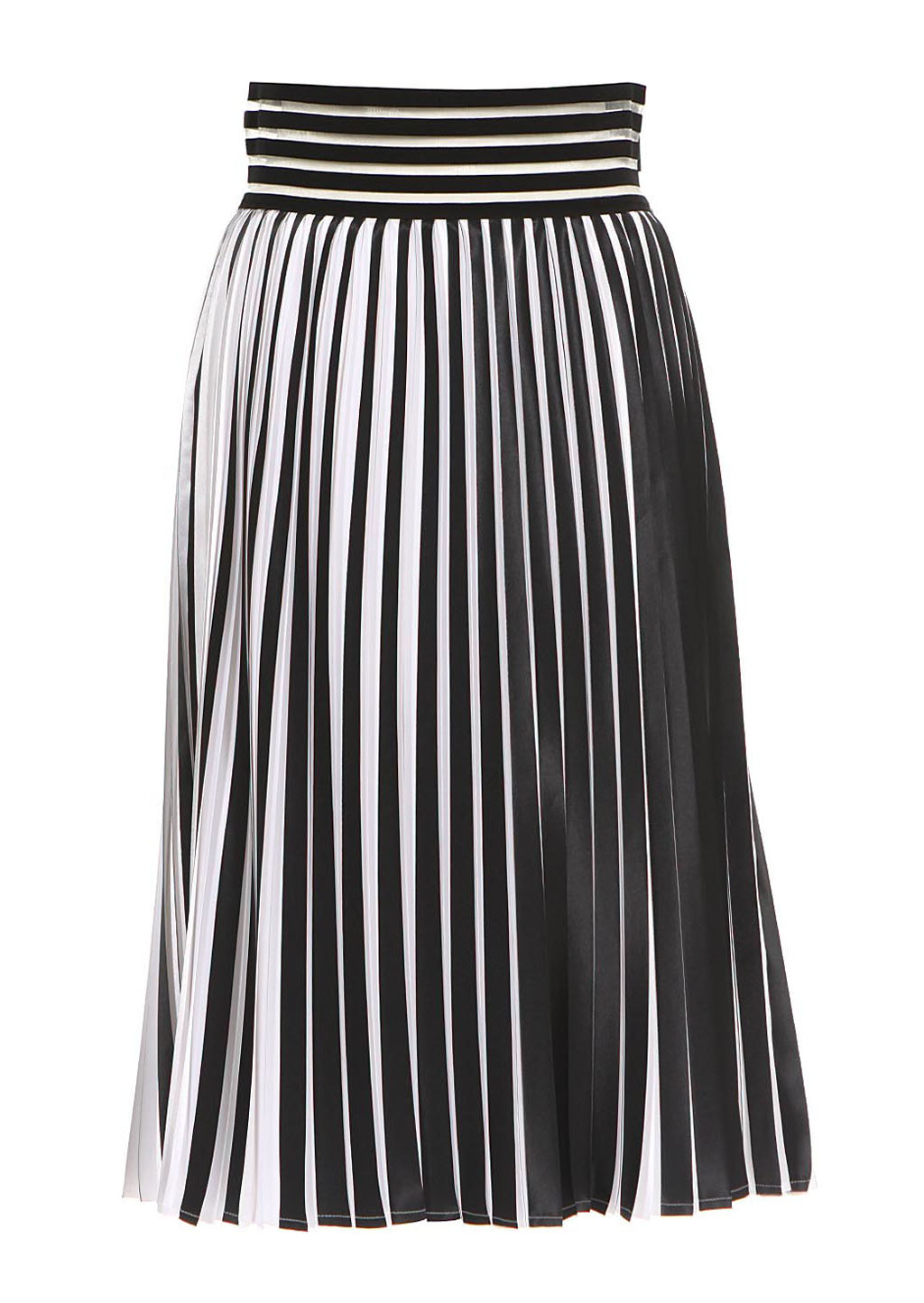 christopher black and white pleated midi skirt in