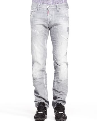 DSquared2 Distressed Dean Denim Jeans Gray - Lyst