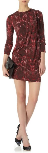 Felder Felder Red Feather Jersey Dress - Lyst