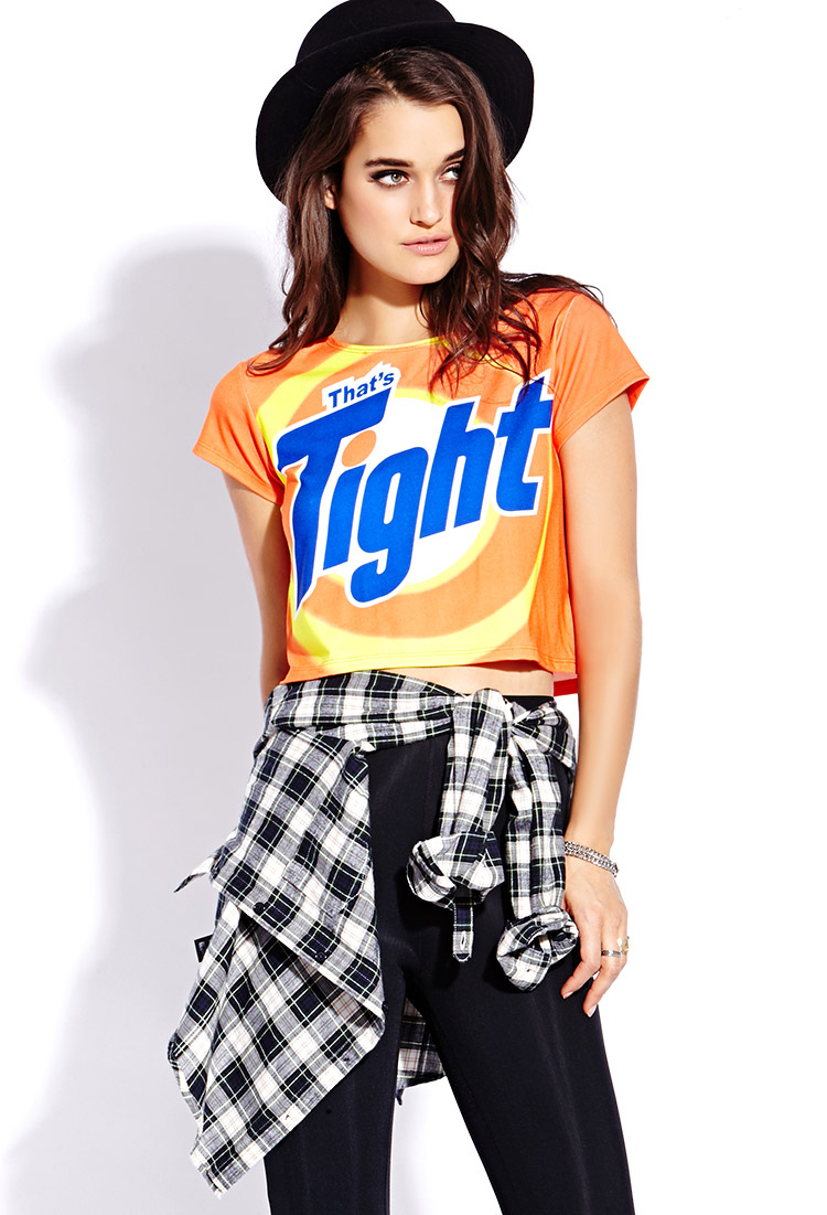 Lyst Forever 21 Thats Tight Tee In Orange