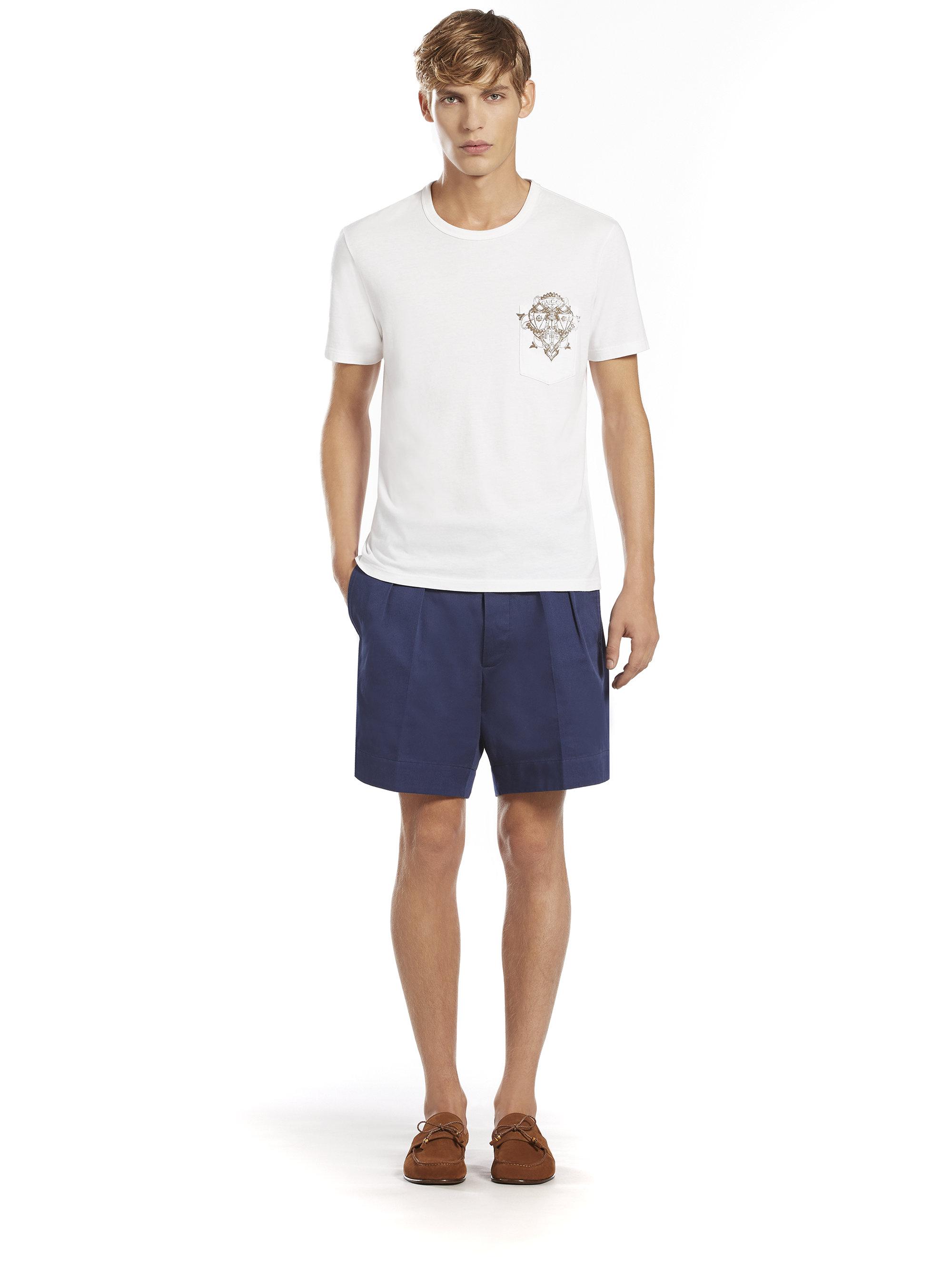 Gucci Light Cotton Drill Bermuda Shorts in Blue for Men | Lyst