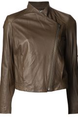 Helmut Lang Leather Moto Jacket - Lyst