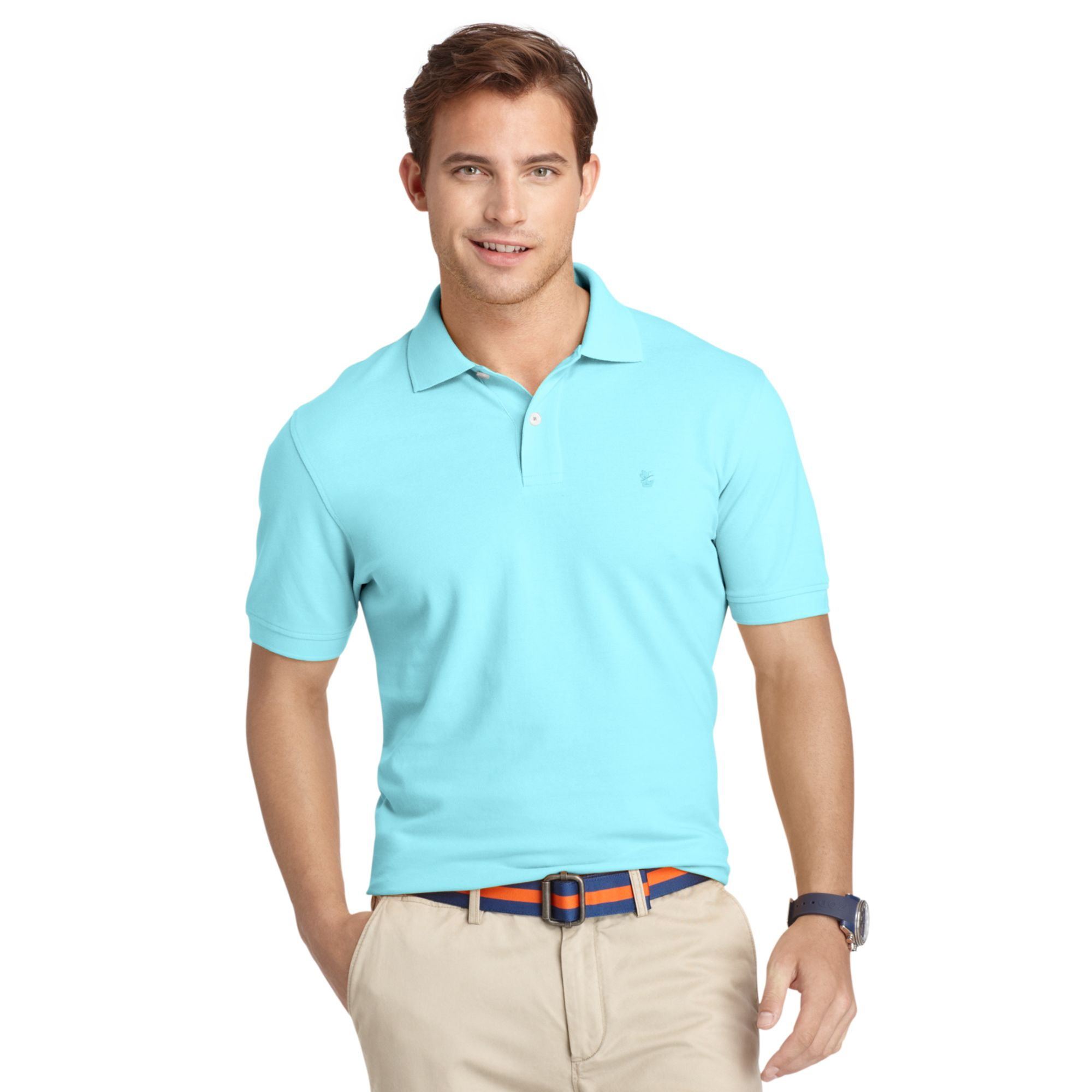 Lyst izod big and tall shirt oxford pique polo shirt in for Big and tall oxford shirts