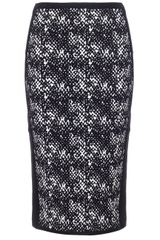 Narciso Rodriguez Reversible Print Pencil Skirt - Lyst