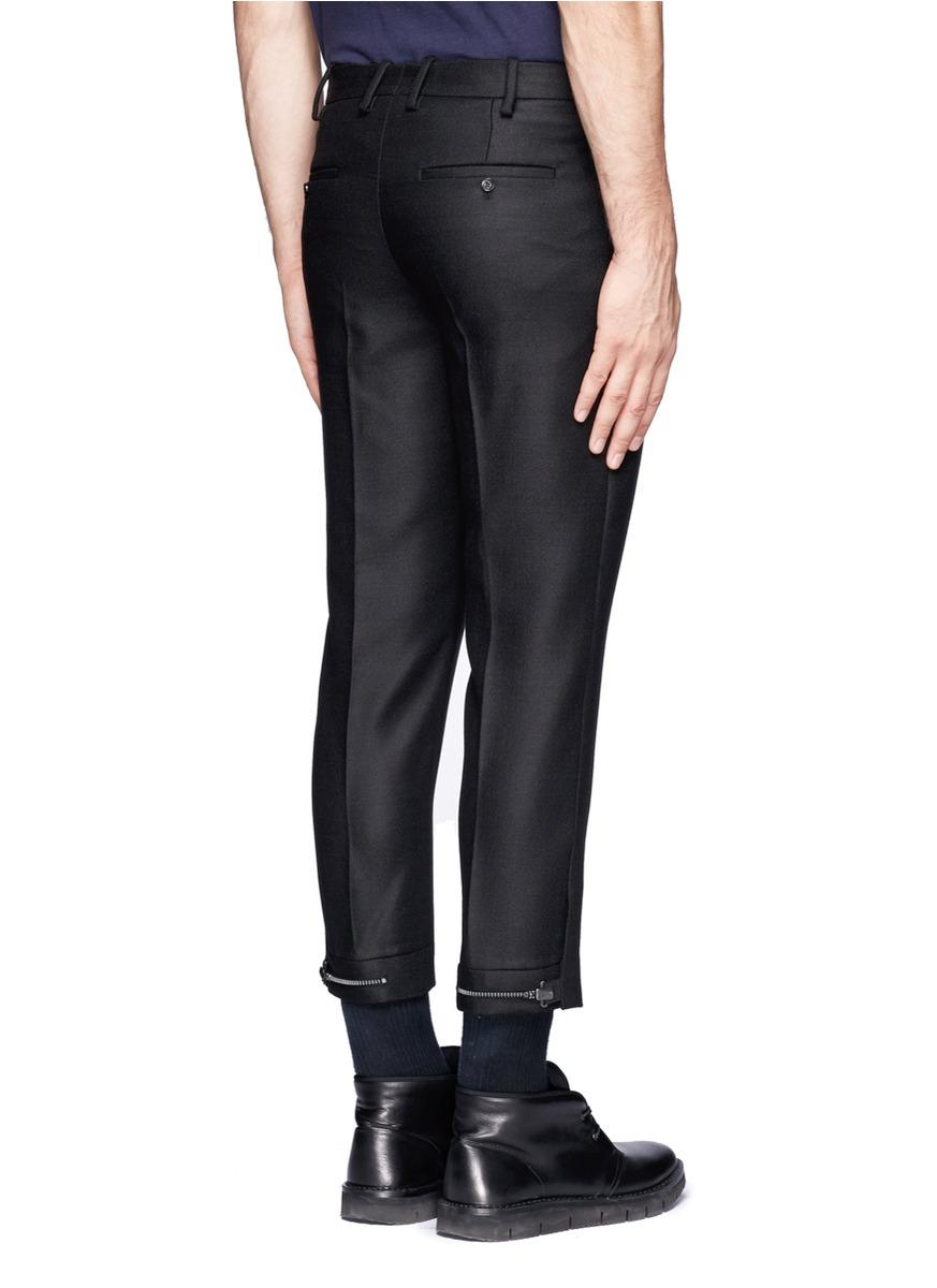 Neil Barrett Adjustable Hem Pants In Black For Men Lyst
