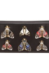 Roberto Cavalli Insect Embellished Shoulder Bag - Lyst