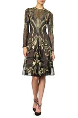 Temperley London Gold Mesh Aya Dress - Lyst