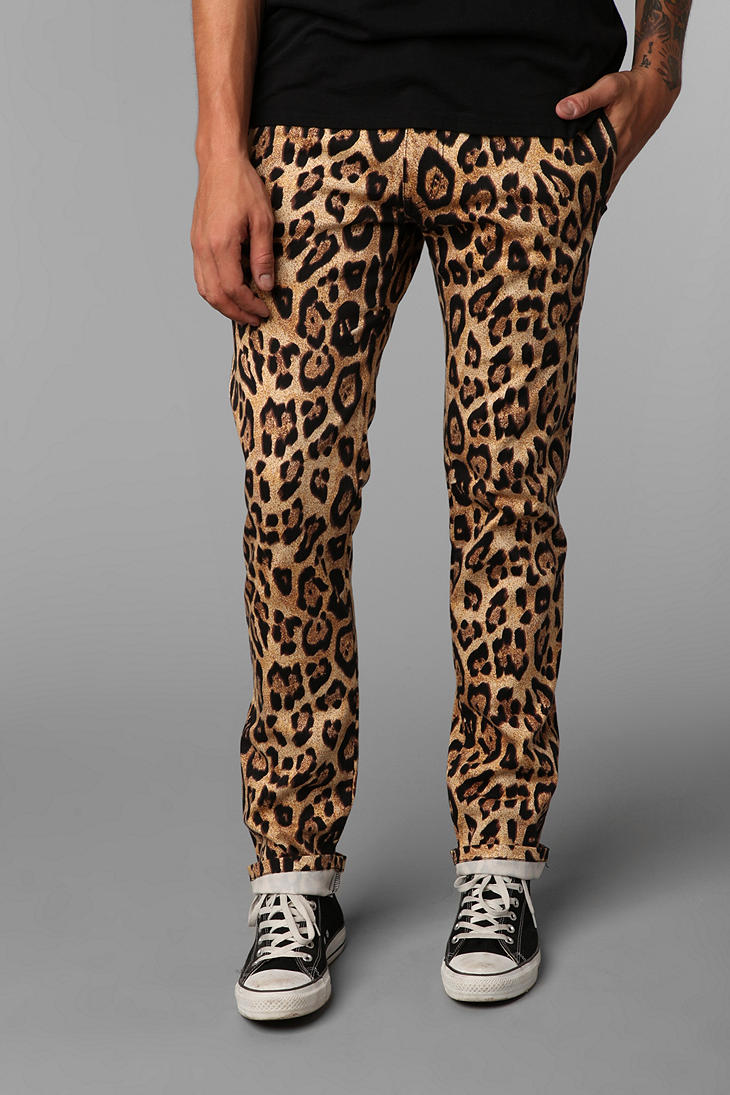 Urban Outfitters Tripp Nyc Leopard Print Topcat Pant In Animal For Men Gold Lyst