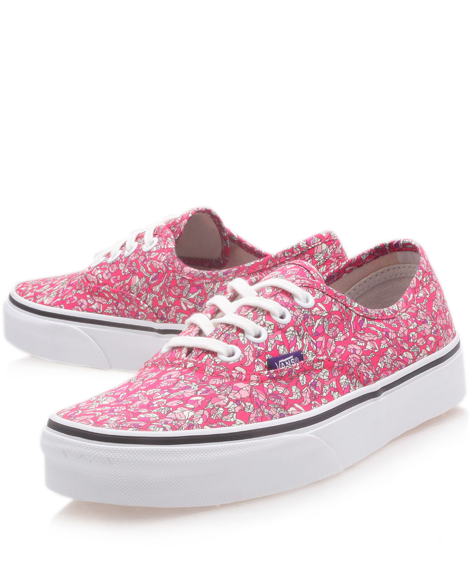0cbdb09385 Lyst - Vans Pink Leaves Liberty Print Authentic Trainers in Pink for Men