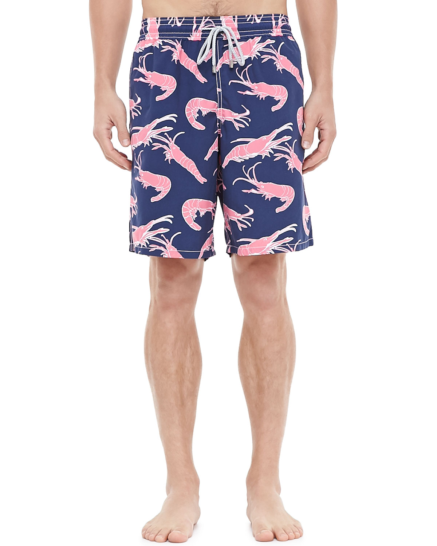 6988a003b23fc Vilebrequin Okoa Shrimp-Print Swim Shorts in Blue for Men - Lyst