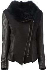 V.sp Leather Jacket - Lyst