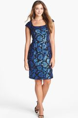 Alex Evenings Embellished Lace Sheath Dress - Lyst