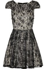Alice + Olivia Aubree Embellished Lace Dress - Lyst