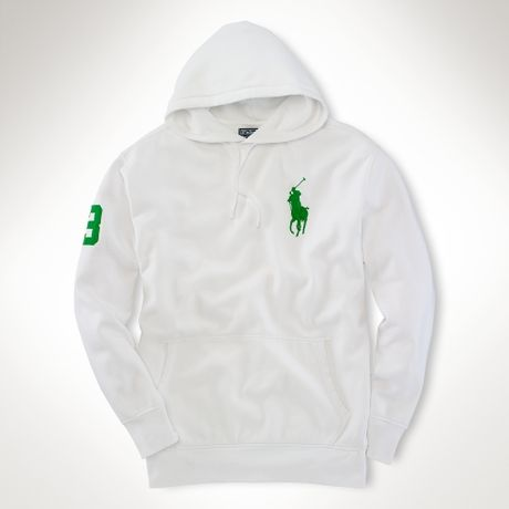 Big & Tall Playa Fleece Hoodie in White for Men - Lyst