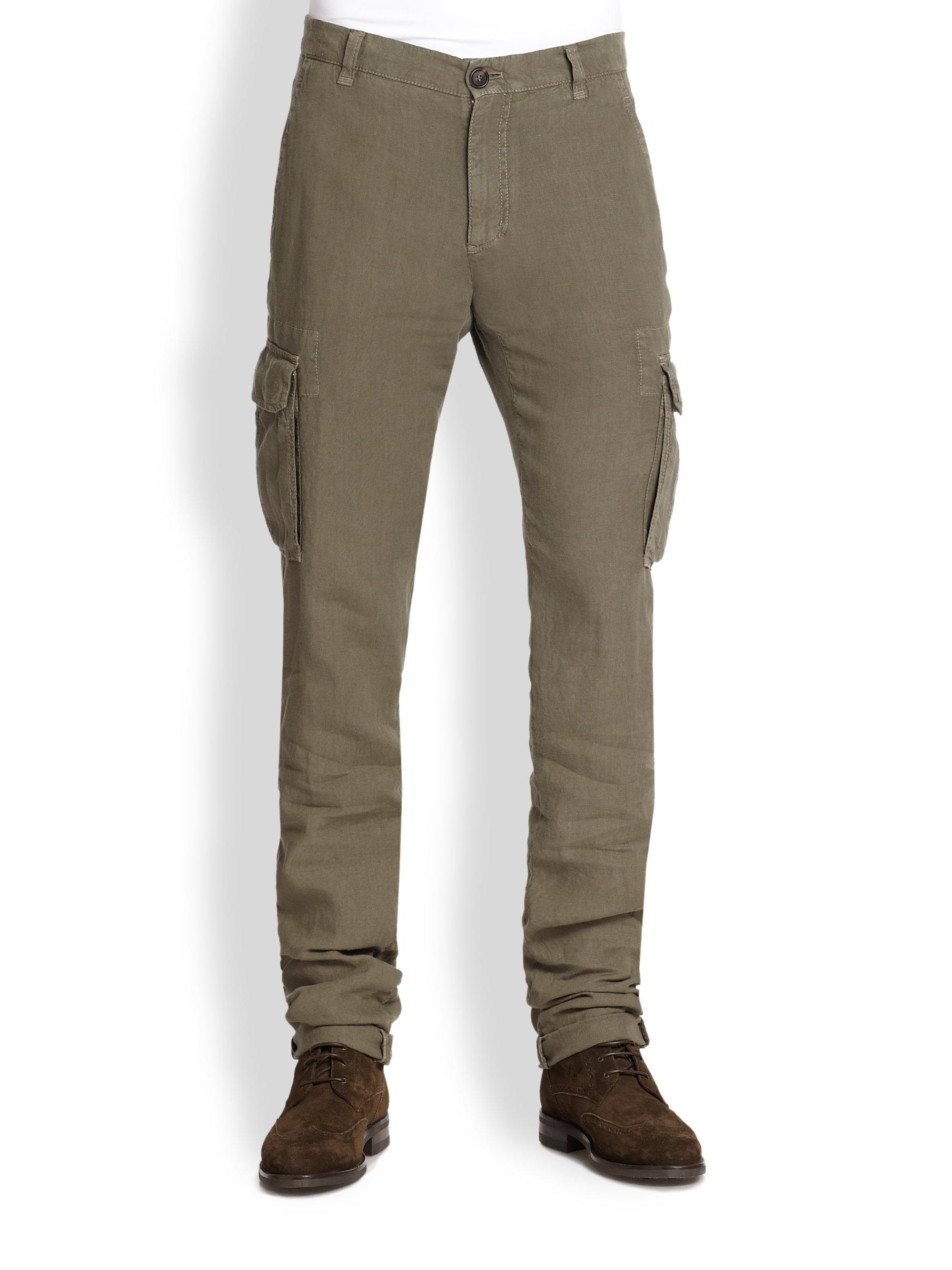 Pantalon Cargo Loisirs En Forme Brunello Cucinelli Gris-brun UhVZE0