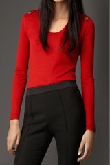 Burberry Bow Detail Merino Wool Sweater - Lyst