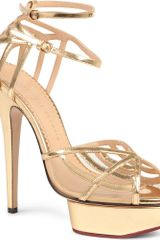 Charlotte Olympia Octavia Leather Platform Sandals - Lyst