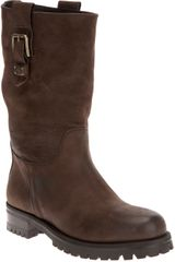 Dolce & Gabbana Chunky Leather Boot - Lyst