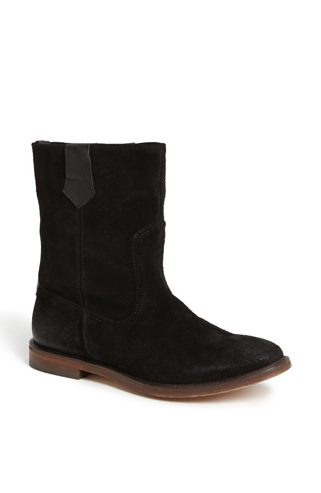 h by hudson hanwell slouchy suede boot in black lyst
