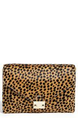 Loeffler Randall Lock Calf Hair Clutch - Lyst