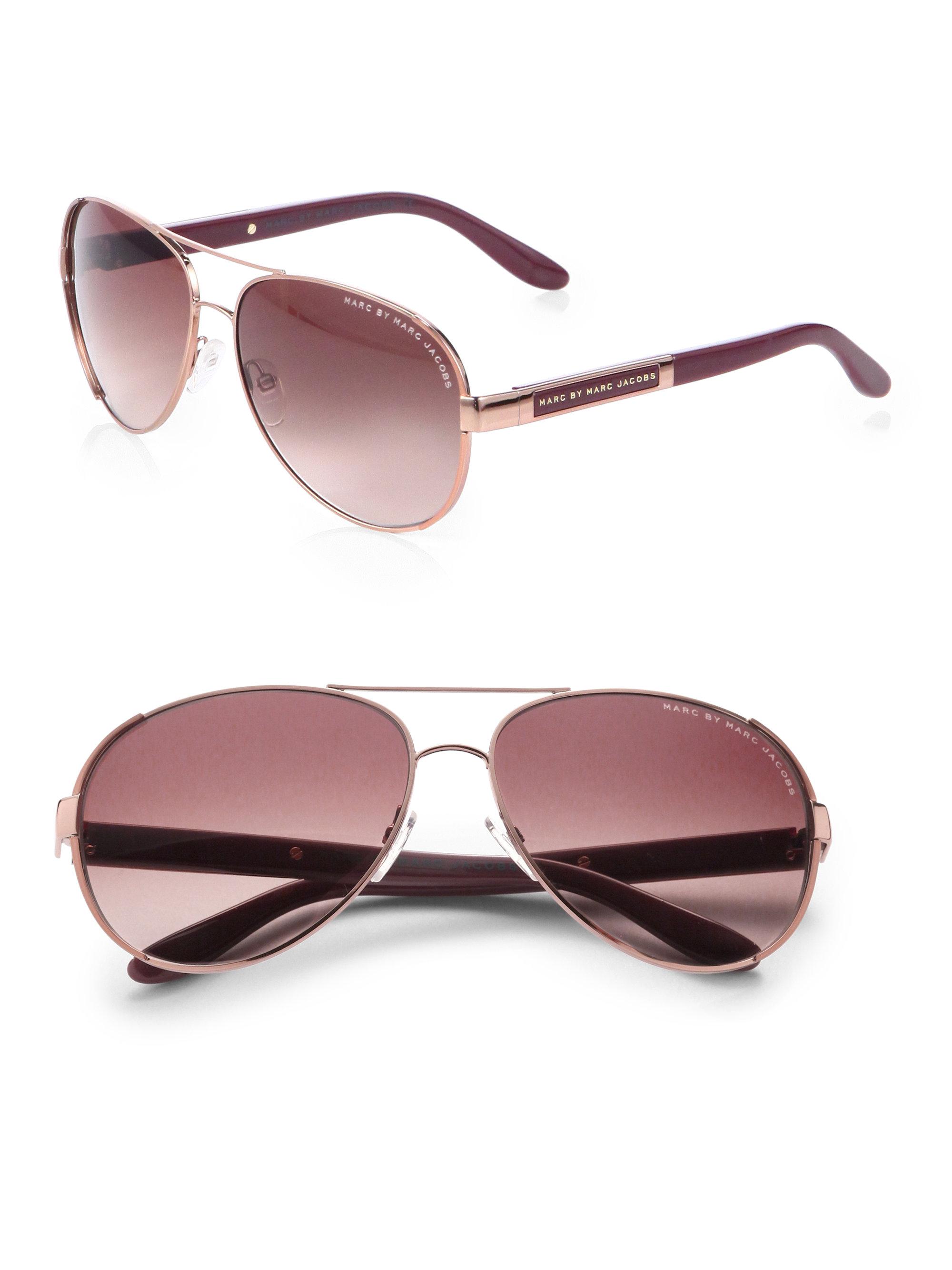 5ec93ee9c4 Marc Jacobs Women s Aviator Sunglasses