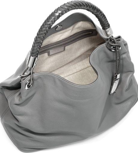 Grey Shoulder Bag Leather 11