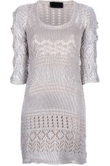 Philipp Plein Cutout Knit Dress - Lyst