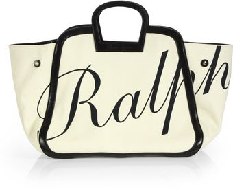 Ralph Lauren Collection Canvas Logo Satchel - Lyst