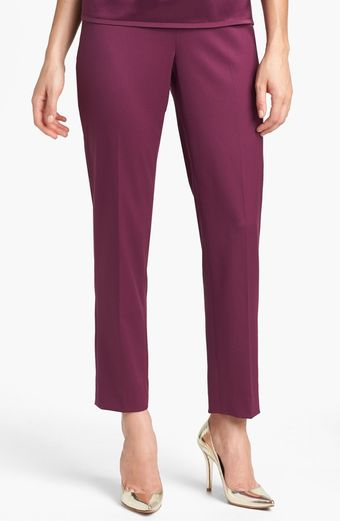 St. John Collection Emma Venetian Wool Crop Pants - Lyst