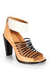 3.1 Phillip Lim Dede Leather Sandal Ankle Boots - Lyst