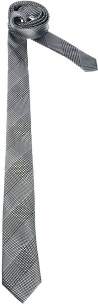 Marios Schwab Asos Tie with Prince Of Wales Check - Lyst