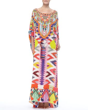 Camilla Beaded Printed Maxi Coverup - Lyst