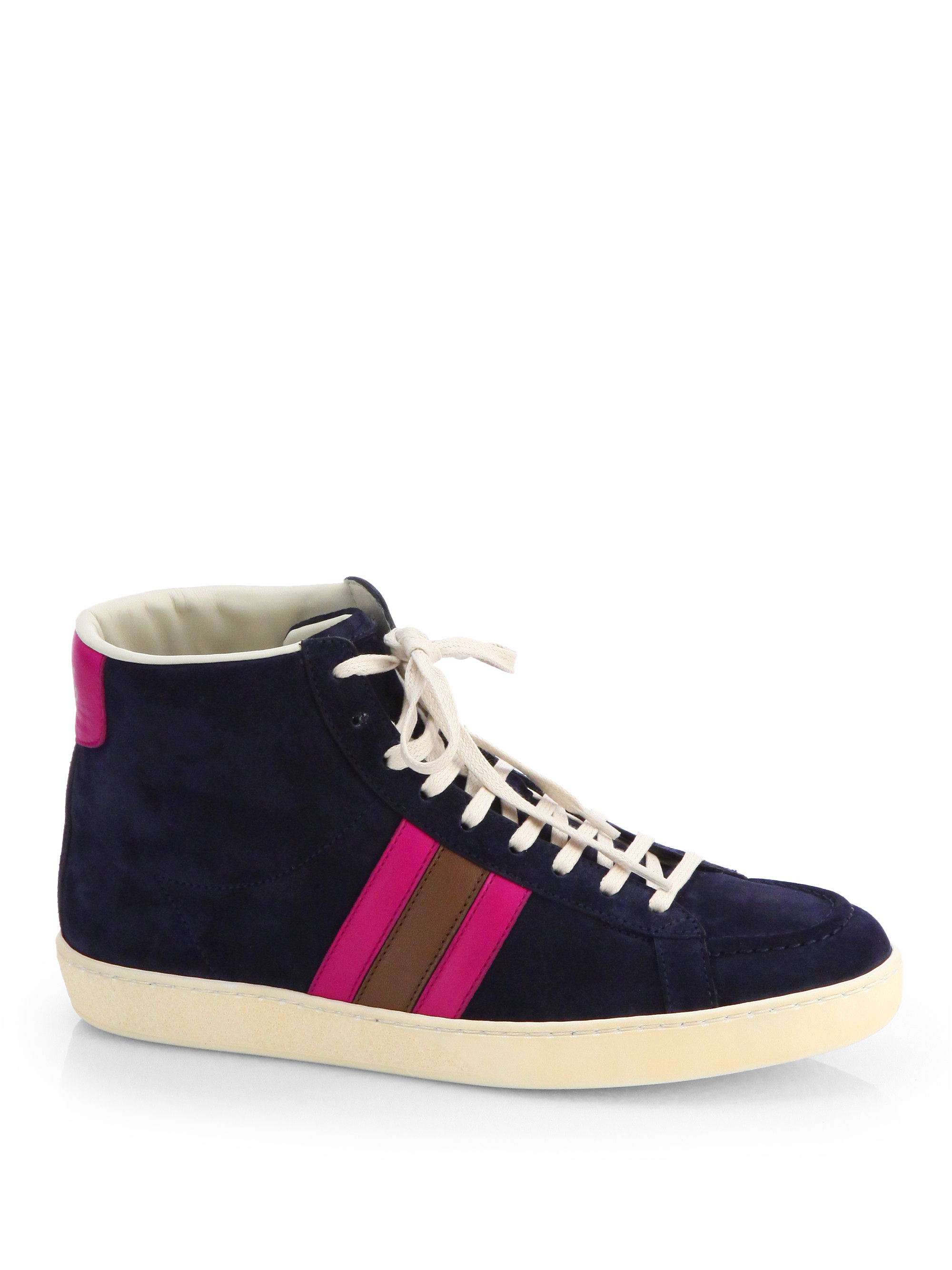 Lyst Gucci Orizon Multicolored Suede Hightop Sneakers In