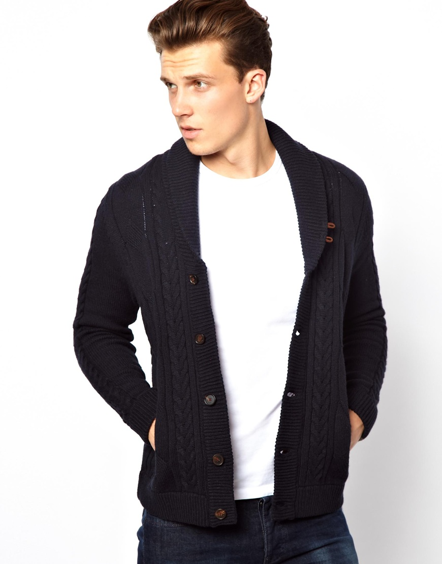 Gloverall Cardigan in Blue for Men | Lyst