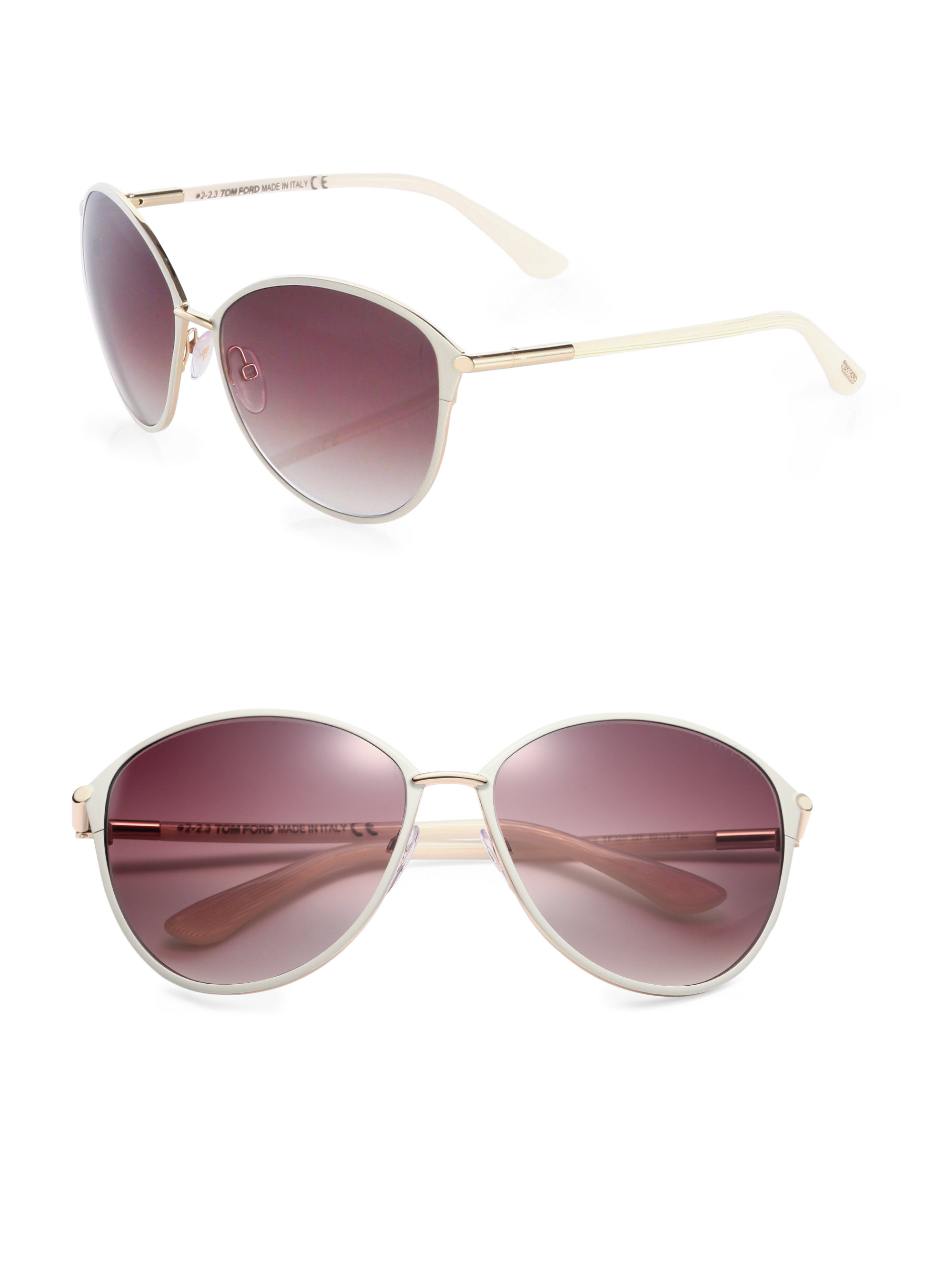 Tom Ford Penelope Sunglasses  tom ford penelope oversized sunglasses in gray lyst