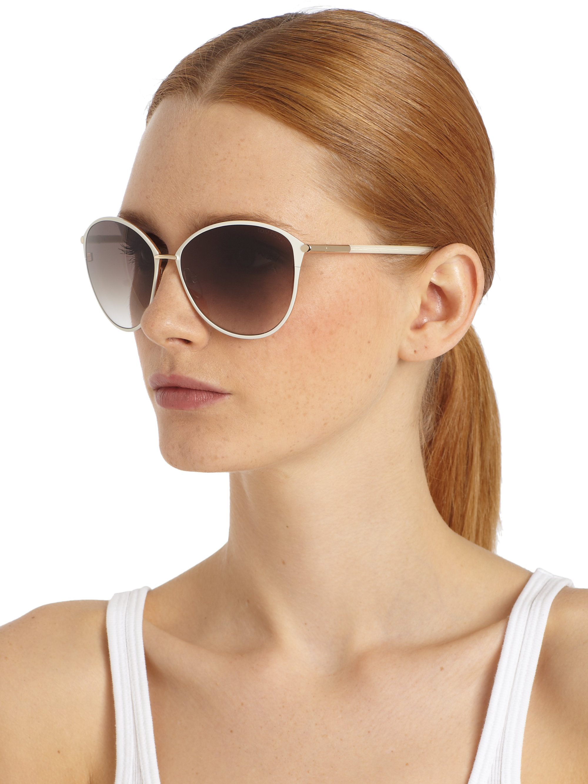 Lyst Tom Ford Penelope Oversized Sunglasses In Gray