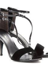 3.1 Phillip Lim Quill Patentleather and Velvet Sandals - Lyst